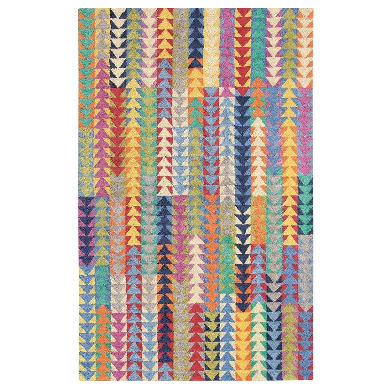 Companyc Geometric Handmade Tufted Jute Sisal Multicolor Area Rug Wayfair