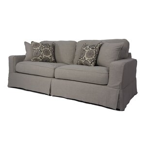 Columbus Box Cushion Sofa Slipcover Set by A..