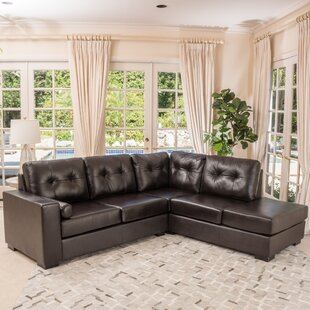 Mccollom Leather Right Hand Facing Sectional By Red Barrel Studio