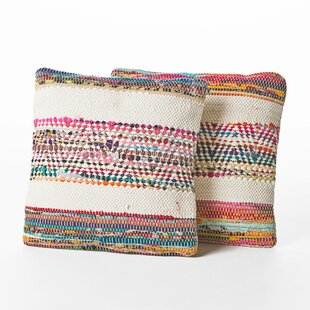 Churchton Cotton Throw Pillow (Set of 2)