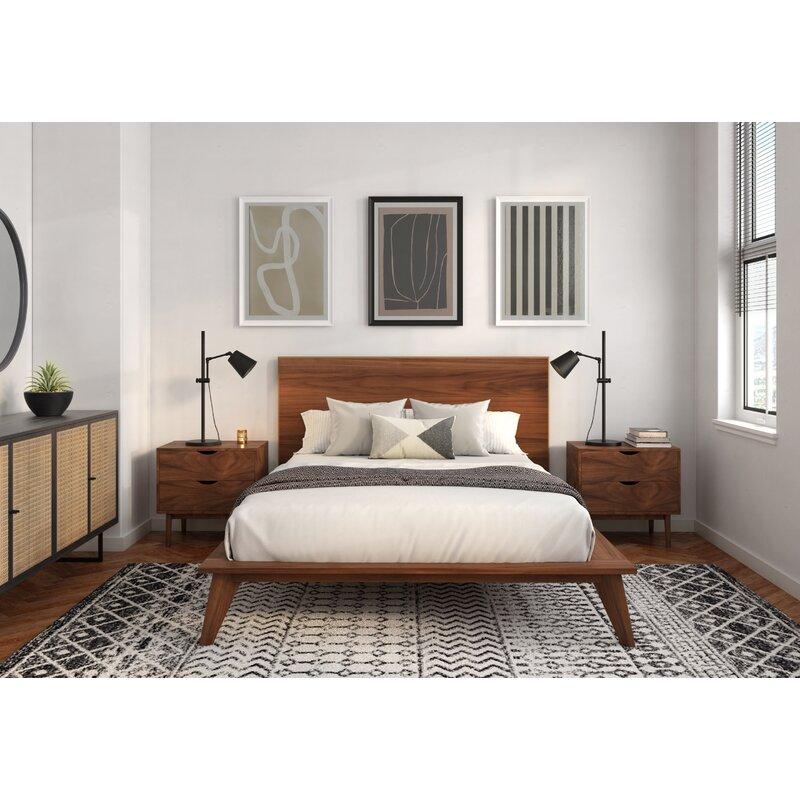Araujo Solid Wood Platform 3 Piece Bedroom Set Allmodern