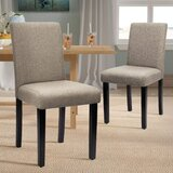 Anjelyka Side Chair in Beige (Set of 2) by Latitude Run®
