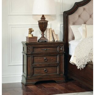 Leffel 3 Drawer Nightstand