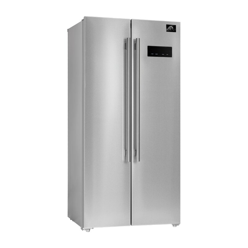 Forno Salerno Stainless Steel 33 Counter Depth Side By Side 15 6 Cu Ft Refrigerator Wayfair
