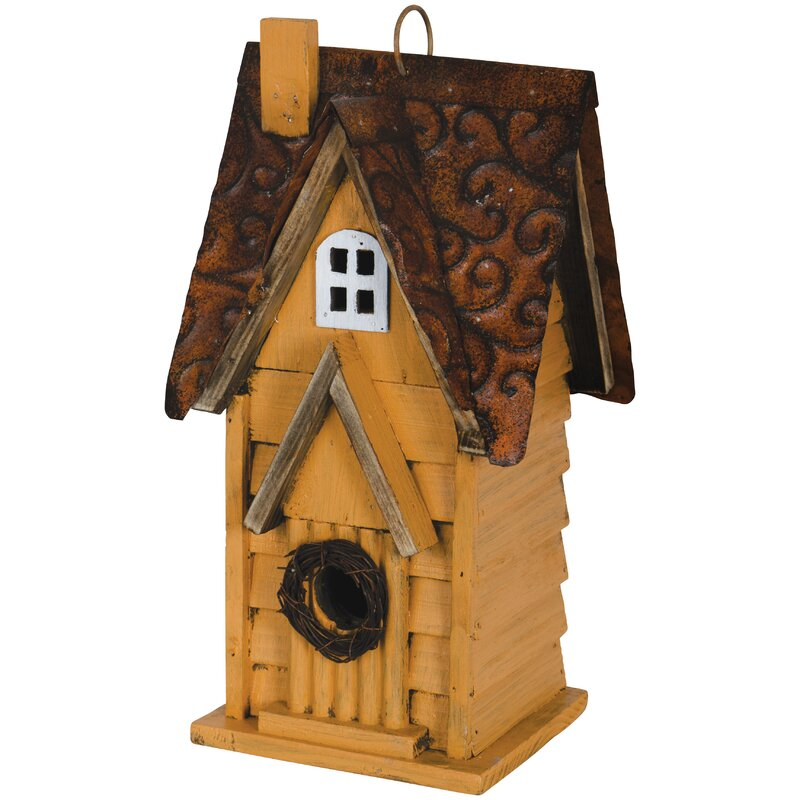 Carson Home Accents Cottage 12 5 In X 6 75 In X 5 5 In Birdhouse Wayfair