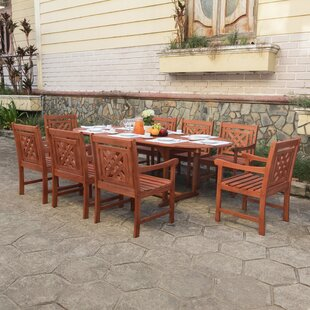 Stephenie 9 Piece Patio Dining Set