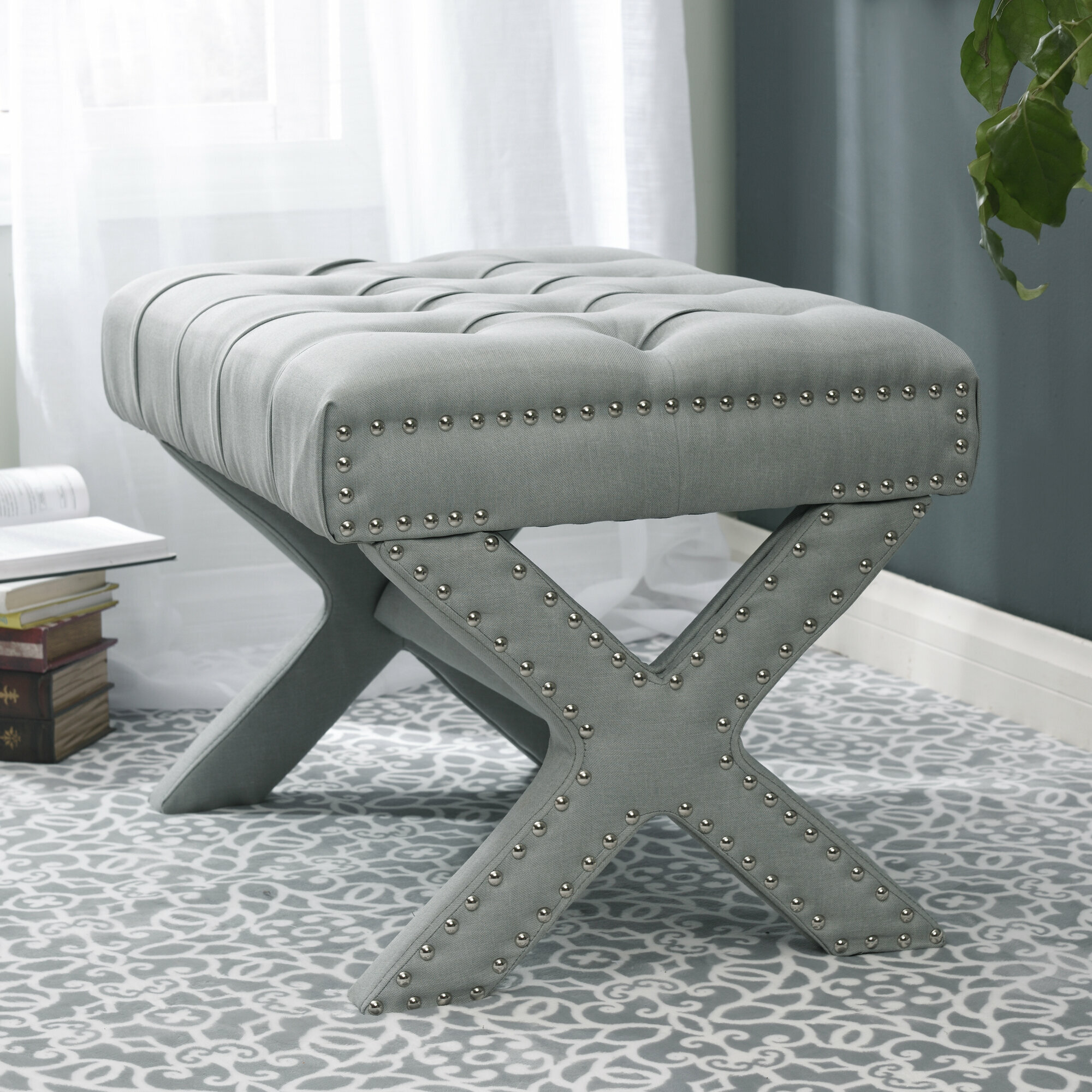 Marvelous Mosqueda Button Tufted Ottoman Gmtry Best Dining Table And Chair Ideas Images Gmtryco