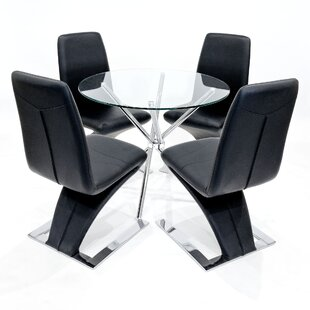 Harriss Dining Set With 4 Chairs By Wade Logan