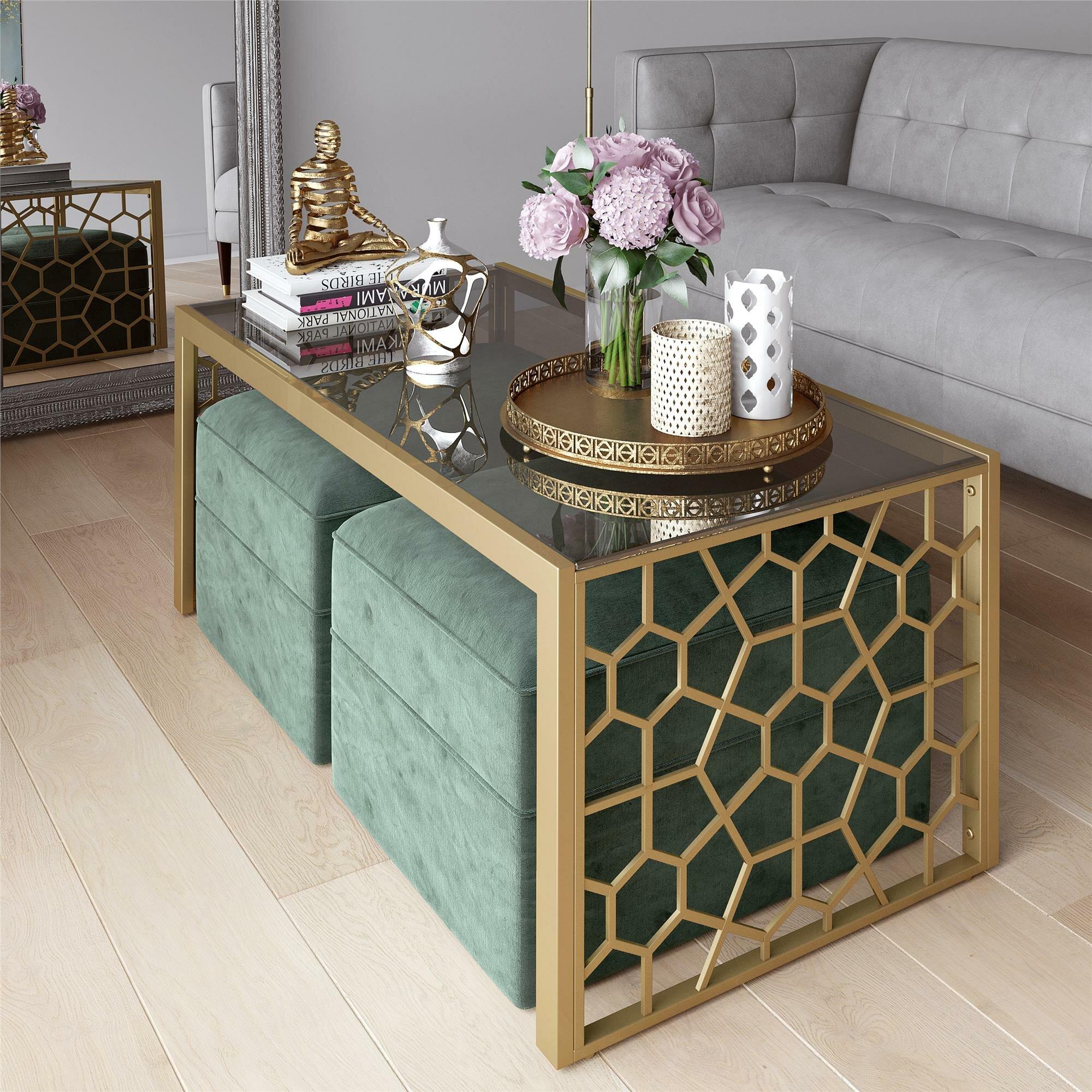 Cosmoliving By Cosmopolitan Juliette Glass Top Coffee Table Reviews Wayfair