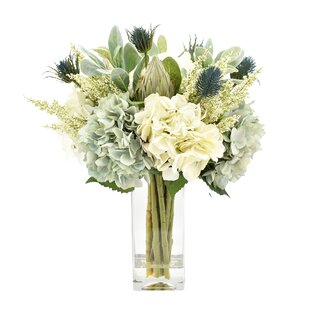 Mixed Floral Arrangement in Glass Vase