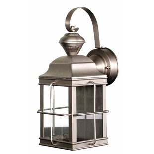 Gerke Metal Carriage Outdoor Wall Lantern with Motion Sensor