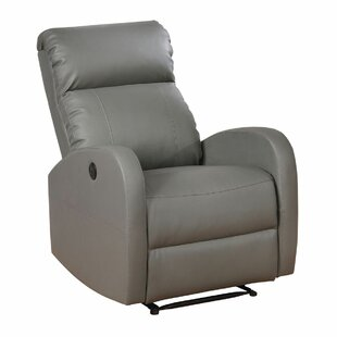 Troutman Leather Recliner by Latitude Run