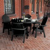 Nicolette Commercial Grade Adirondack 5 Piece Dining Set