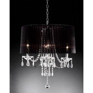 Crystal drop round chandelier wayfair crystal drop 4 light chandelier aloadofball Images