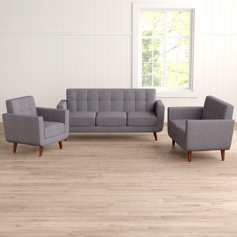 Langley Street Nilson 3 Piece Living Room Set & Reviews   Wayfair