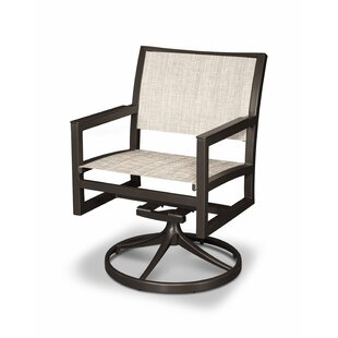 Parsons Swivel Patio Dining Chair