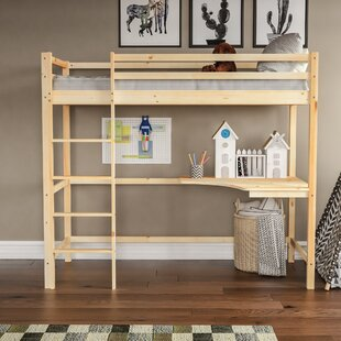Sydney High Sleeper Bed With Desk By Harriet Bee