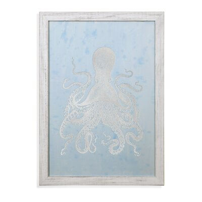 Octopus II Framed Acrylic Painting Print Highland Dunes