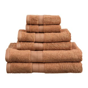 Superior 6 Piece Rayon from Bamboo Towel Set