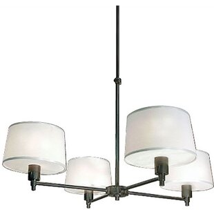 Robert Abbey Real Simple 4-Light Shaded Chandelier