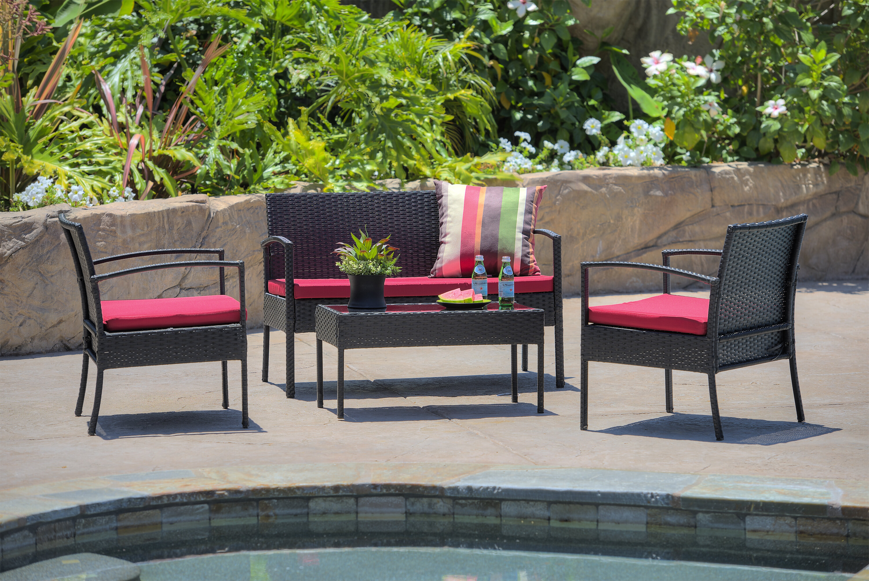 Andover mills roxana 4 piece set with cushions reviews wayfair