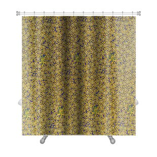 Charlie Close Up Beautiful Flower and Leaf Premium Single Shower Curtain