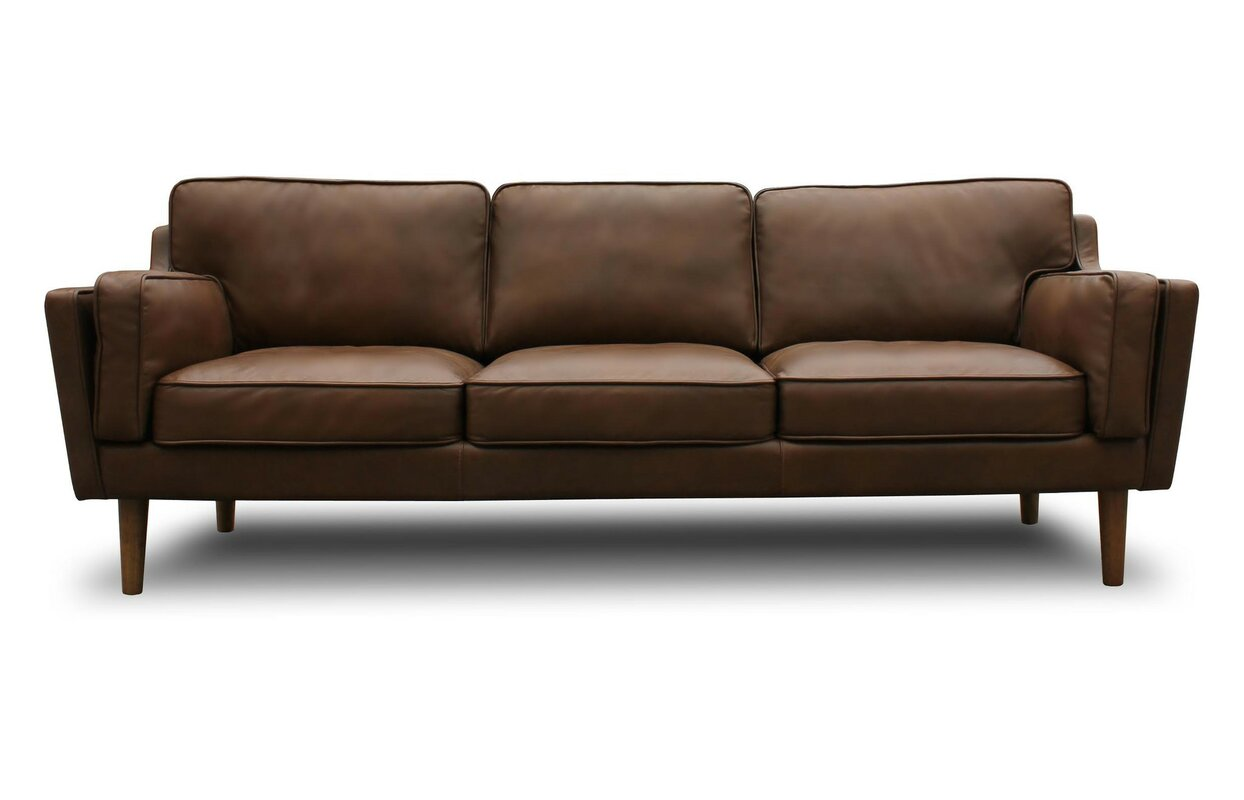 Beautiful Kaufman Mid Century Modern Leather Sofa