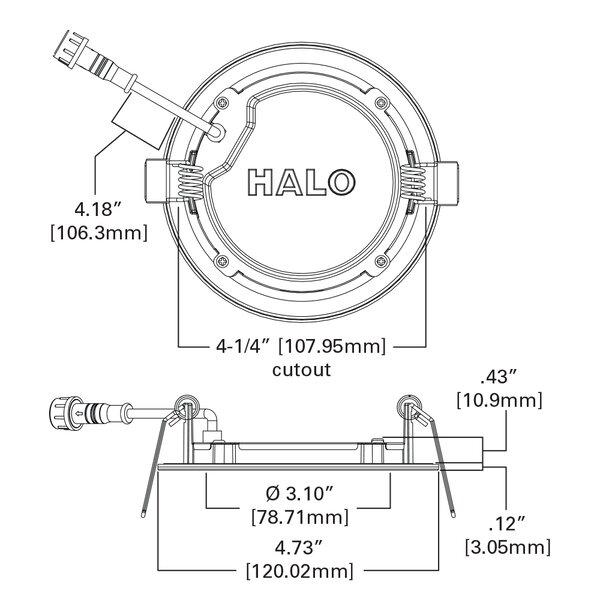 Cooper Lighting Llc 4 73 Ultra Slim Selectable Cct Remodel Led Canless Recessed Lighting Kit Wayfair