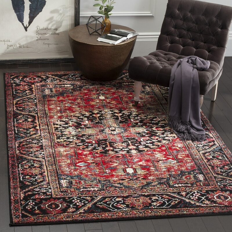 Mccall Red/Black Area Rug