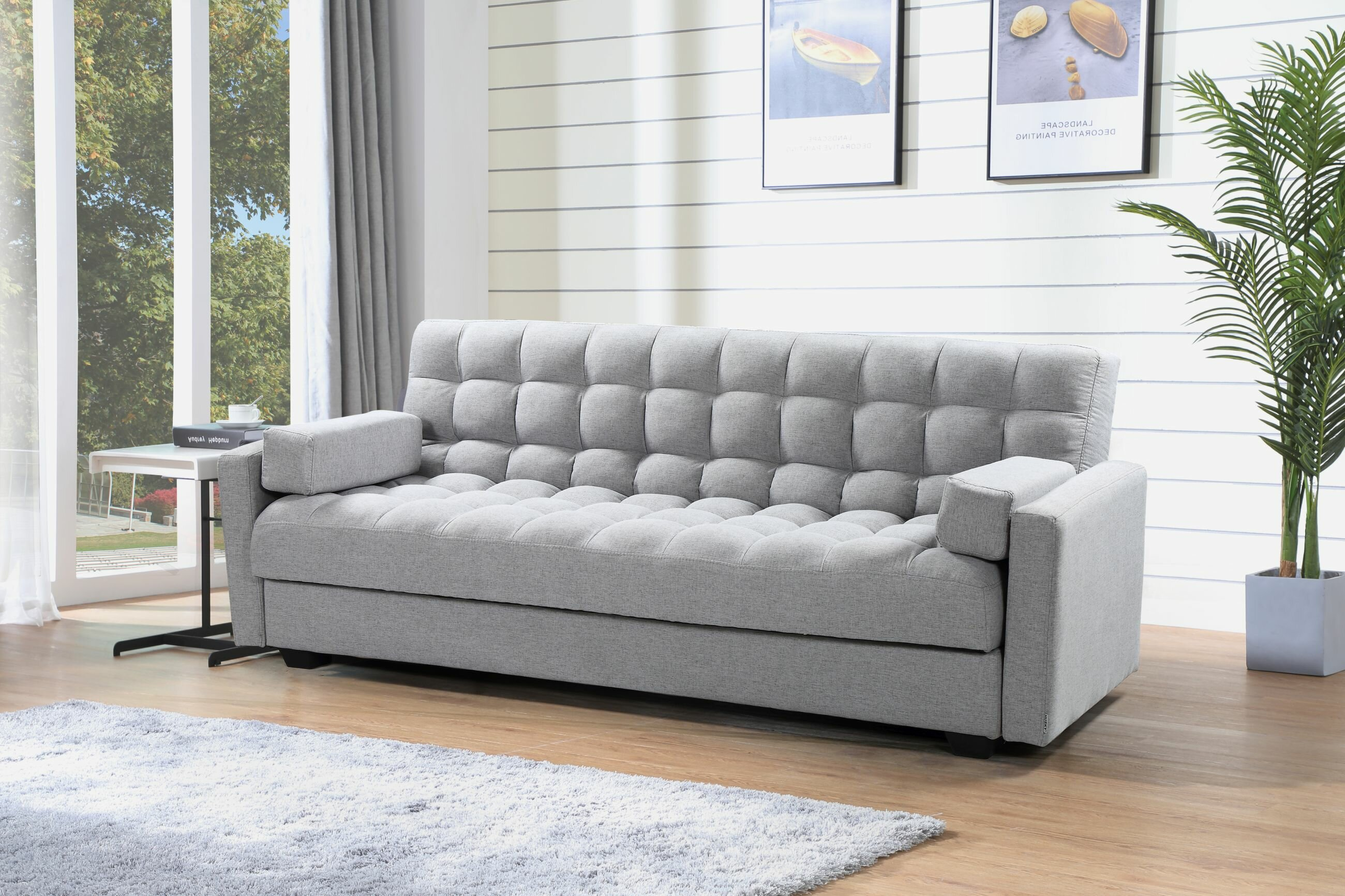 ebern designs breazeale 3 in 1 sofa bed c