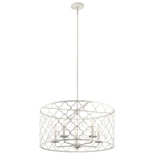 Bungalow Rose Diller 5-Light Drum Chandel..