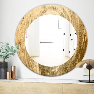Vintage Tree Grooves Annual Rings on Stump Bohemian and Eclectic Wall Mirror by East Urban Home