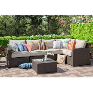 Ernst 6 Piece Sectional Seating Group with Cushions
