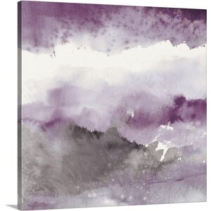 'Midnight at the Lake III Amethyst and Gray' by Mike Schick Painting Print on Canvas