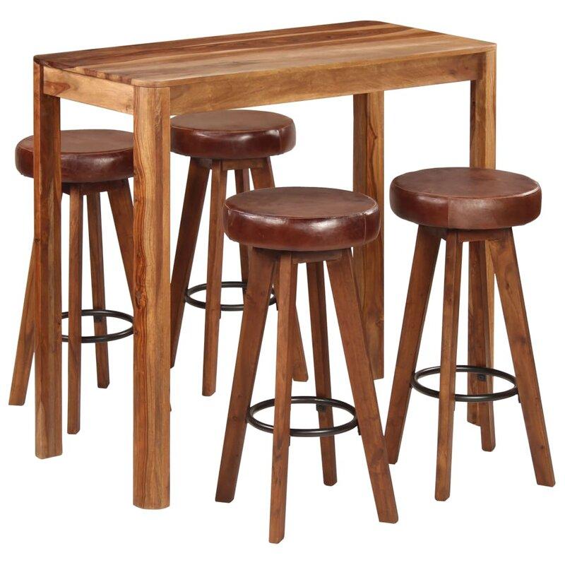 Union Rustic Essgruppe Fullwood mit 4 Stühlen
