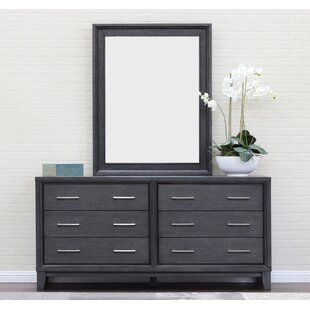 Chelsea 6 Drawer Double Dresser With Mirror by Home Image Purchase