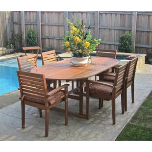 Rivas 7 Piece Dining Set by Rosecliff Heights