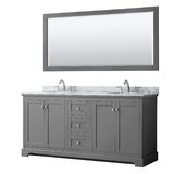 Avery 72 Double Bathroom Vanity Set with Mirror by Wyndham Collection
