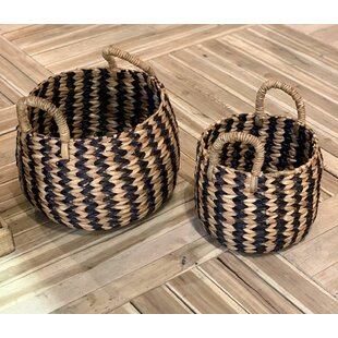 Rattan Basket (Set Of 2) By Bay Isle Home