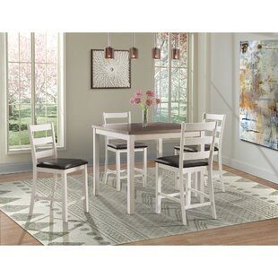 Mavis 5 Piece Counter Height Pub Table Set Alcott Hill