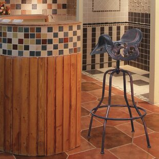 Cha Adjustable Height Bar Stool by Fleur De Lis Living