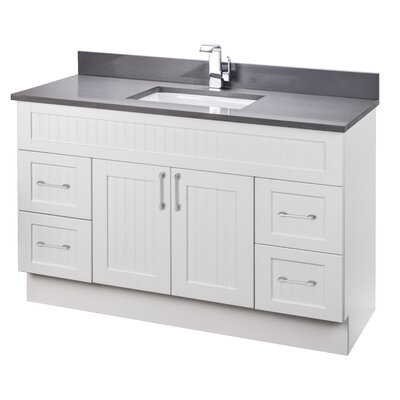 Stratford Cottage 49'' Single Bathroom Vanity Set with Quartz Top