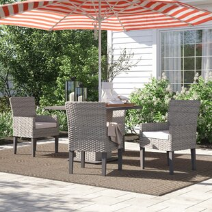 Rockport 5 Piece Dining Set with Cushions