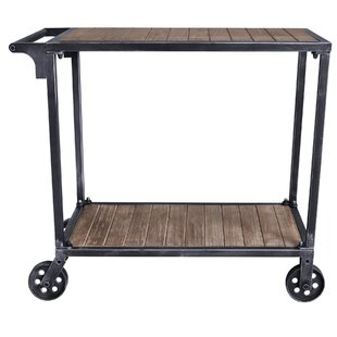 Gonzales Kitchen Cart with Manufactured Wood Top Williston Forge