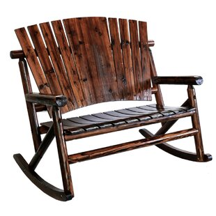 Char Log Double Rocking Chair