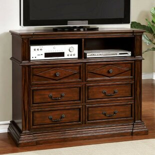 Best Price Espana Wooden Media 6 Drawer Chest by Darby Home Co