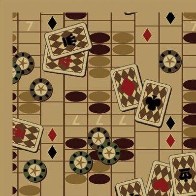 Joy Carpets Gaming And Entertainment Feeling Lucky Beige Rug Wayfair