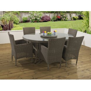 Spalding 6 Seater Dining Set With Cushions By Mercury Row
