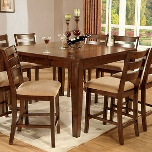 Dell 9 Piece Counter Height Drop Leaf Dining Set by