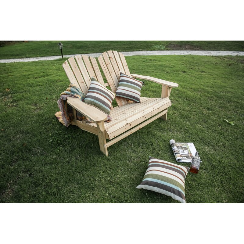 Rosecliff Heights Melcher Solid Wood Adirondack Chair